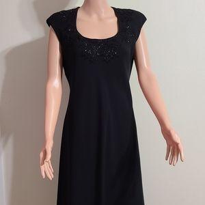 JONES NEW YORK BLACK BEADED DRESS